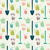 庭のシームレスなパターン — ストックベクタ