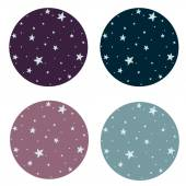 Background with night sky and stars — Stock Vector