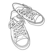 Sneakers  in sketch style — Stock Vector