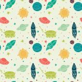 Seamless pattern with space — Stockvector