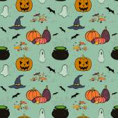 Halloween seamless pattern — Stockvector