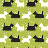 Scottie and  west highland terrier  pattern — Wektor stockowy