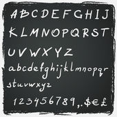 Alphabet design on chalkboard — Stock Vector