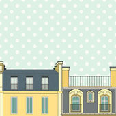 Template with Paris roofs — Stockvektor