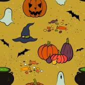 Halloween seamless pattern — Wektor stockowy