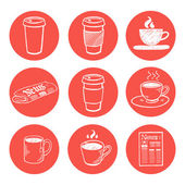 Coffee break icons — Stock Vector