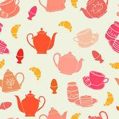 Breakfast seamless pattern — Stock Vector