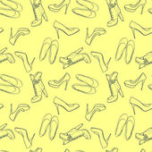 High hill shoes seamless pattern — Vettoriale Stock