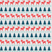Christmas pattern with moose — Stock Vector
