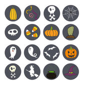 Doodle Halloween icons — Stock Vector