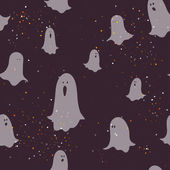 Halloween pattern with cartoon ghosts. — Vetorial Stock