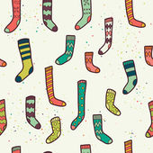Seamless pattern with  socks — Stock Vector