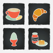 Breakfast set with coffee cup — Stock Vector
