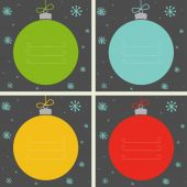 Christmas baubles with snowflakes — Stock vektor