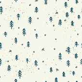 Forest doodle seamless pattern — Stock Vector