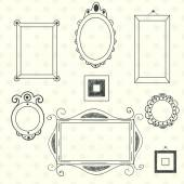 Frames and borders set — Vettoriale Stock