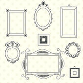 Frames and borders set — Stock Vector