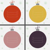 Four Christmas baubles — Stockvektor