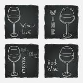 Glasses for red and white wine — Stock Vector