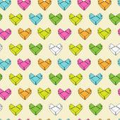 Origami paper hearts pattern — Vecteur