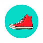 High red sneaker. — Stock Vector