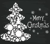 Christmas invitation or greeting card — Stock Vector