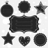 Tags and frames for Christmas — Vector de stock