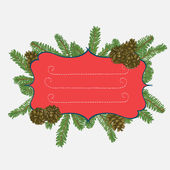 Christmas frame design — Stock Vector
