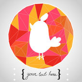 Hand drawn cartoon bird. — Stock Vector