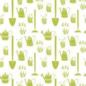 Zahradní bezešvé vzor — Stock vektor