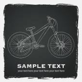 Mountain bicycle illustration — Stock Vector