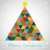 Christmas  geometrical fir tree. — ストックベクタ
