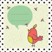 Bird and speech bubble. — Stock Vector