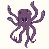 Cartoon octopus illustration. — Stock Vector