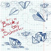 Back to School sketch — Stock Vector