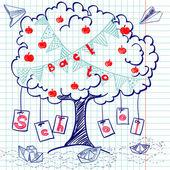 """Dibujado a mano """"regreso a la escuela"""" — Vector de stock"""