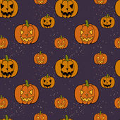 Halloween pattern with  Jack-o'-lanterns. — Vetor de Stock