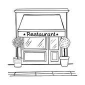 Hand drawn sketchy shop — Stock Vector