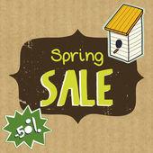 Vårens försäljning illustration — Stockvektor