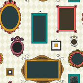 Seamless pattern with frames and borders — Stock Vector