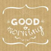 Good morning hand lettering — Stock Vector