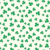 Clover seamless pattern for St. Patrick's Day — Stock Vector