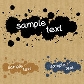 Set of  text box made of ink drops — Stock Vector