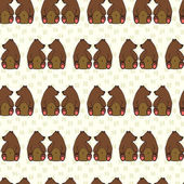 Seamless pattern with cute cartoon doodle bears — ストックベクタ