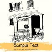 Petite boutique sur la rue de la ville européenne — Vecteur