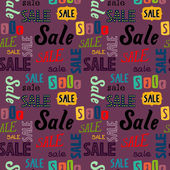 Seamless pattern with Sale words — Stock Vector