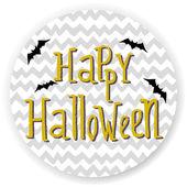 Halloween invitation  with cartoon bats — Stock Vector
