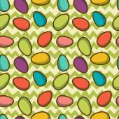 Easter seamless pattern with eggs — Stock Vector
