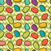 Modèle sans soudure de Pâques avec des oeufs — Vecteur