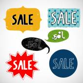 Stickers and badges for sale — Stock Vector
